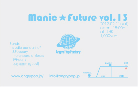 manic future vol.13 Flyer